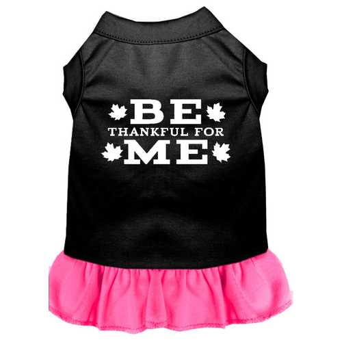 Be Thankful for Me Screen Print Dress Black with Bright Pink Med (12)