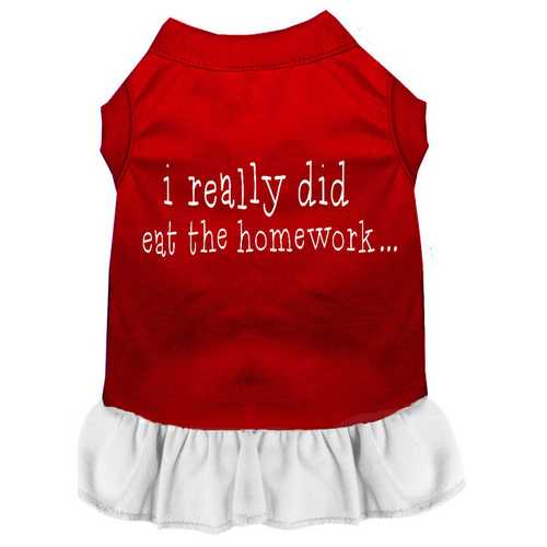 I really did eat the Homework Screen Print Dress Red with White Lg (14)
