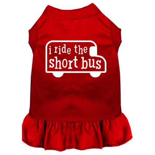 I ride the short bus Screen Print Dress Red XS (8)