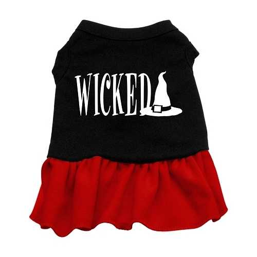 Wicked Screen Print Dress Black with Red Med (12)