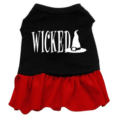 Wicked Screen Print Dress Black with Red Sm (10)