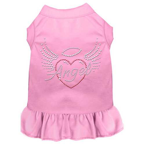 Angel Heart Rhinestone Dress Light Pink XS (8)