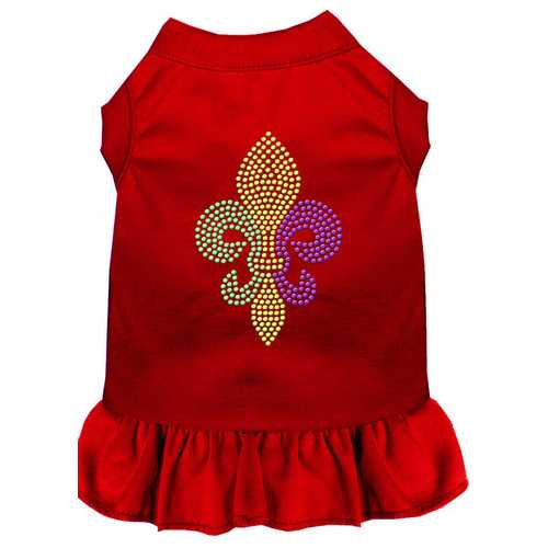 Mardi Gras Fleur De Lis Rhinestone Dress Red 4X (22)