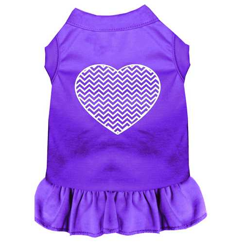 Chevron Heart Screen Print Dress Purple 4X (22)