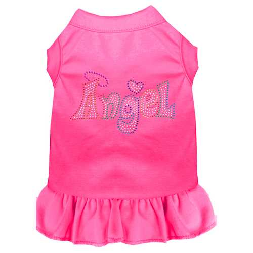 Technicolor Angel Rhinestone Pet Dress Bright Pink XS (8)