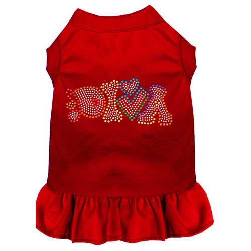 Technicolor Diva Rhinestone Pet Dress Red XS (8)