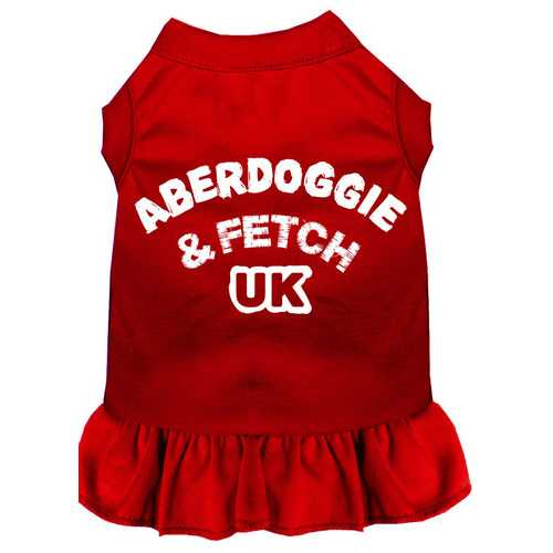 Aberdoggie UK Screen Print Dress Red Sm (10)