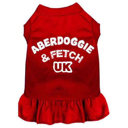 Aberdoggie UK Screen Print Dress Red XL (16)