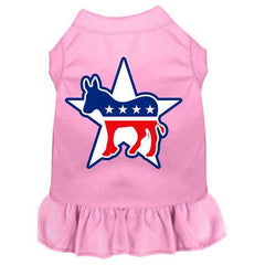 Democrat Screen Print Dress Light Pink 4X (22)