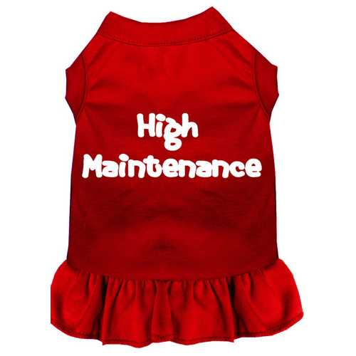 High Maintenance Screen Print Dress Red XXL (18)
