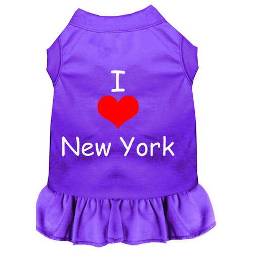 I Heart New York Screen Print Dress Purple 4X (22)