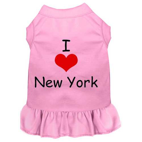 I Heart New York Screen Print Dress Light Pink XXL (18)