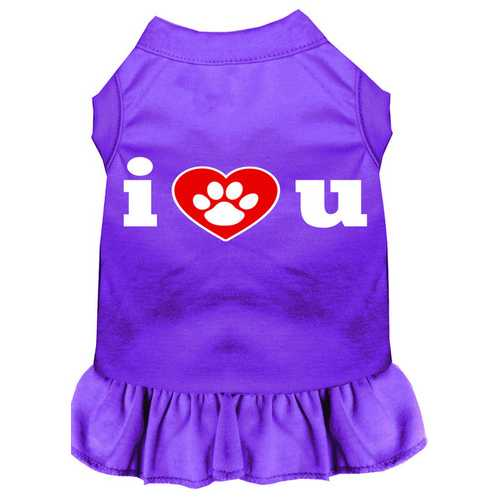 I Heart You Screen Print Dress Purple Sm (10)