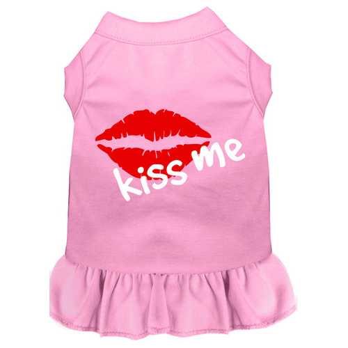 Kiss Me Screen Print Dress Light Pink Lg (14)