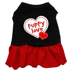 Puppy Love Dresses Black with Red Lg (14)