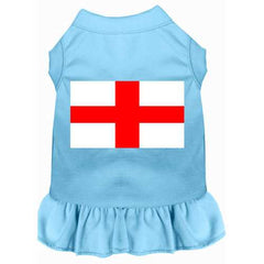 St. Georges Cross Screen Print Dress Baby Blue 4X (22)