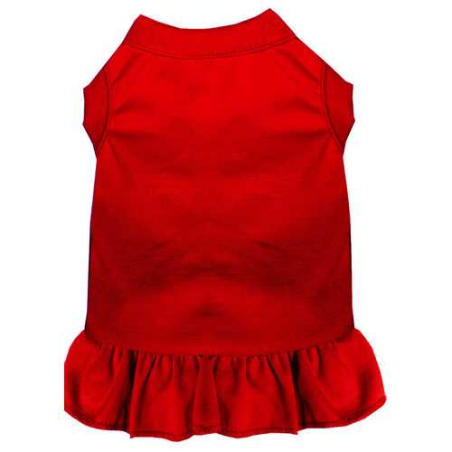 Plain Pet Dress Red Med (12)