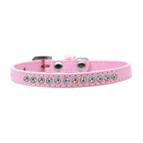 AB Crystal Size 10 Light Pink Puppy Collar