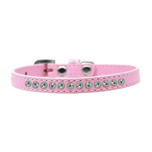 AB Crystal Size 12 Light Pink Puppy Collar