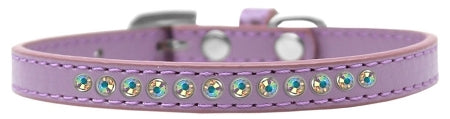 AB Crystal Size 16 Lavender Puppy Collar