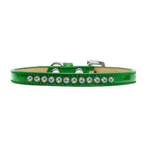 AB Crystal Size 10 Emerald Green Puppy Ice Cream Collar