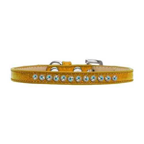 AB Crystal Size 8 Gold Puppy Ice Cream Collar