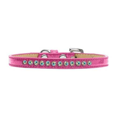 AB Crystal Size 16 Pink Puppy Ice Cream Collar