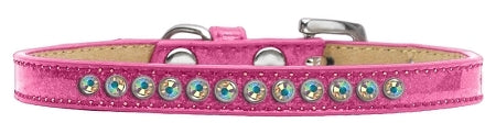 AB Crystal Size 12 Pink Puppy Ice Cream Collar