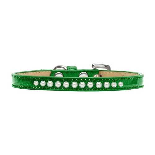 Pearl Size 8 Emerald Green Puppy Ice Cream Collar