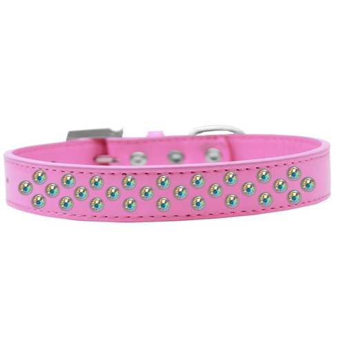Sprinkles Dog Collar AB Crystals Size 14 Bright Pink