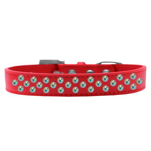 Sprinkles Dog Collar AB Crystals Size 12 Red