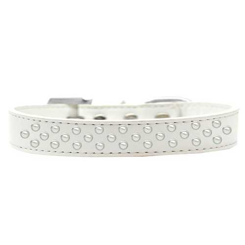 Sprinkles Dog Collar Pearls Size 20 White