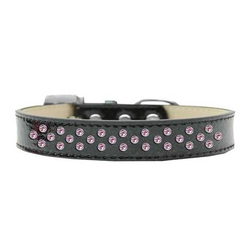 Sprinkles Ice Cream Dog Collar Light Pink Crystals Size 20 Black