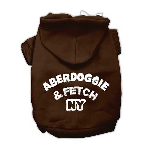 Aberdoggie NY Screenprint Pet Hoodies Brown Size XL (16)