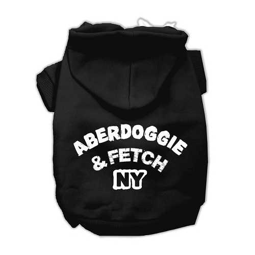 Aberdoggie NY Screenprint Pet Hoodies Black Size XXL (18)