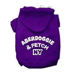 Aberdoggie NY Screenprint Pet Hoodies Purple Size XXL (18)