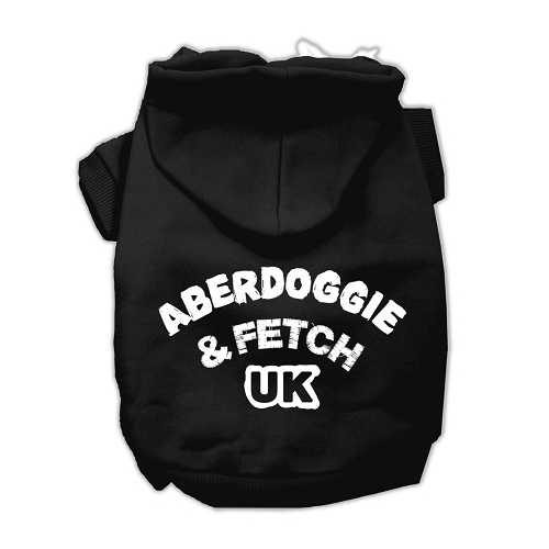 Aberdoggie UK Screenprint Pet Hoodies Black Size Sm (10)