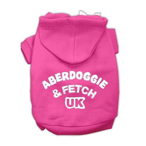 Aberdoggie UK Screenprint Pet Hoodies Bright Pink Size Sm (10)