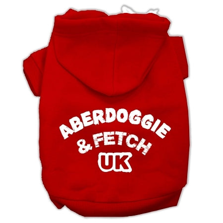 Aberdoggie UK Screenprint Pet Hoodies Red Size Sm (10)