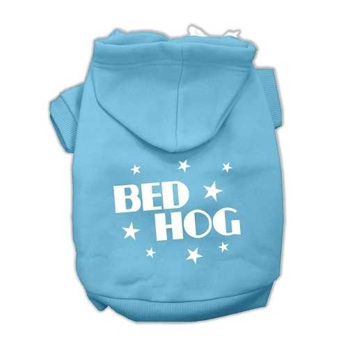 Bed Hog Screen Printed Pet Hoodies Baby Blue Size Med (12)