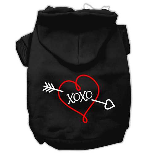 XOXO Screen Print Pet Hoodies Black Size XL (16)