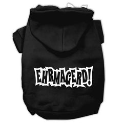 Ehrmagerd Screen Print Pet Hoodies Black Size Med (12)