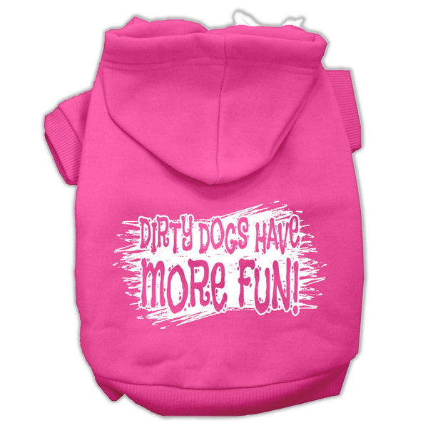 Dirty Dogs Screen Print Pet Hoodies Bright Pink Size XXXL (20)