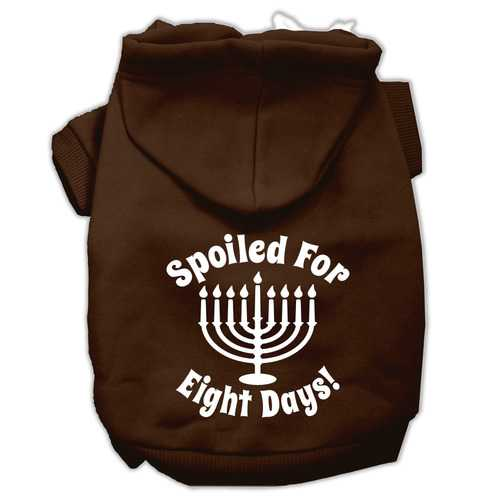 Spoiled for 8 Days Screenprint Dog Pet Hoodies Brown Size XXL (18)