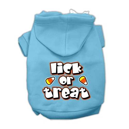Lick Or Treat Screen Print Pet Hoodies Baby Blue XS (8)
