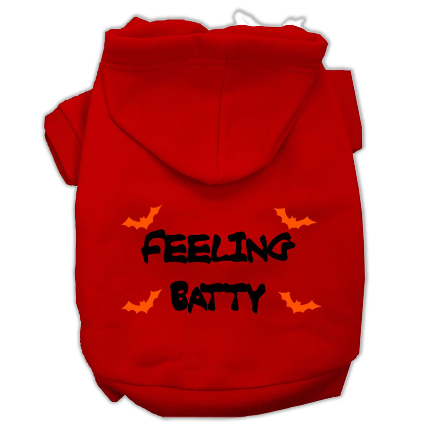 Feeling Batty Screen Print Pet Hoodies Red Size XXL (18)