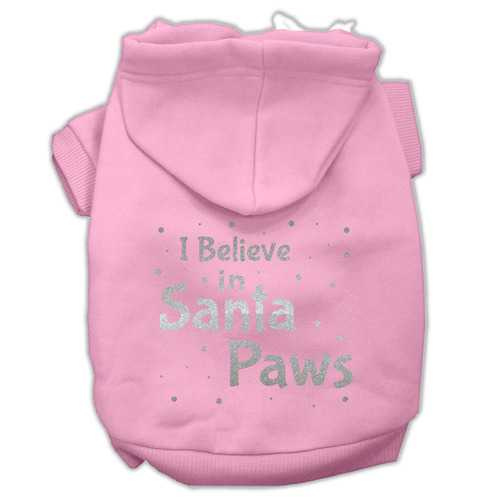 Screenprint Santa Paws Pet Hoodies Light Pink Size XXL (18)