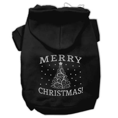 Shimmer Christmas Tree Pet Hoodies Black Size XXXL (20)