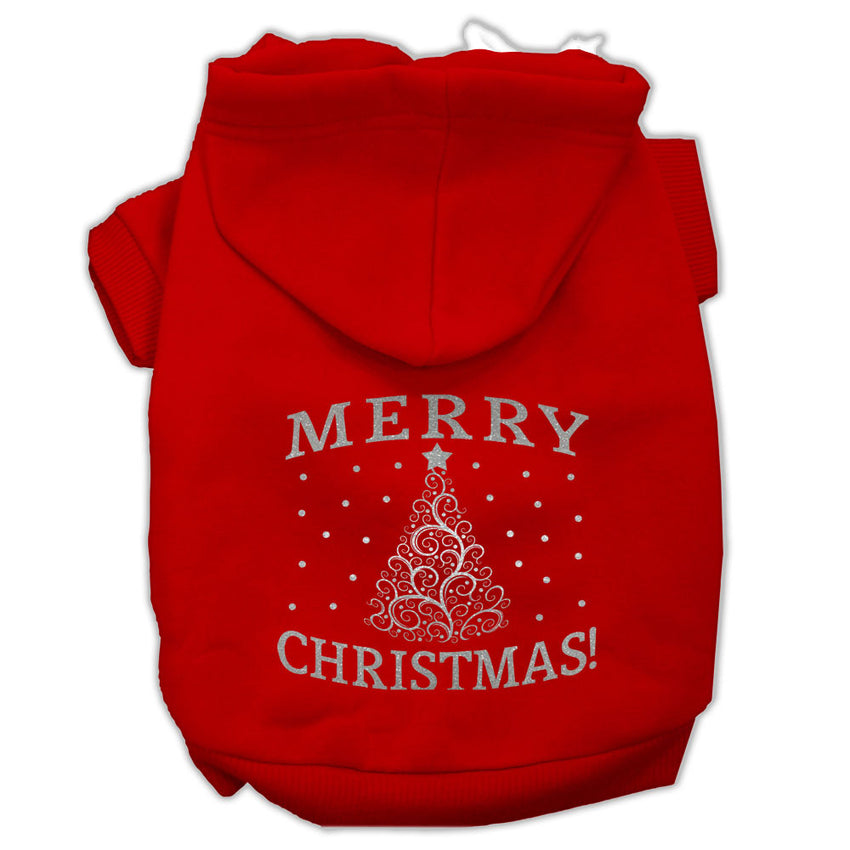 Shimmer Christmas Tree Pet Hoodies Red Size XXXL (20)