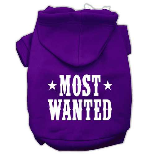 Most Wanted Screen Print Pet Hoodies Purple Size XXXL (20)
